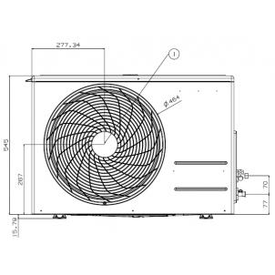 Klimatyzatory pokojowy LG Standard Plus PM18SP.UL2 (jednostka zewnętrzna)