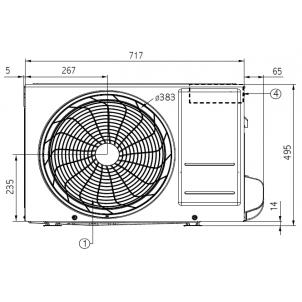 Klimatyzator pokojowy LG ARTCOOL Mirror AM12BP.UA3 (jednostkazewnętrzna)