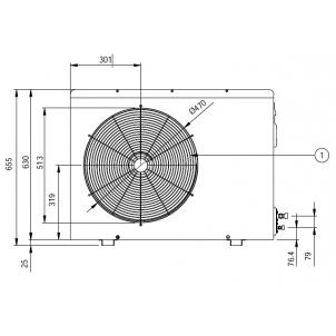 Klimatyzator pokojowy LG Deluxe DM24RP.UUE (jednostka zewnętrzna)