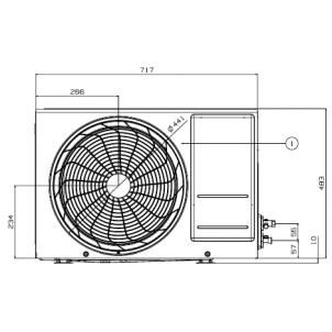 Klimatyzatory pokojowy LG Standard Plus PM09SP.UA3 (jednostka zewnętrzna)