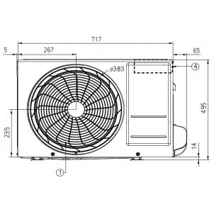 WYPRZEDAŻ (W196) - Klimatyzator pokojowy LG ARTCOOL Mirror AM12BP.UA3 (jednostkazewnętrzna)